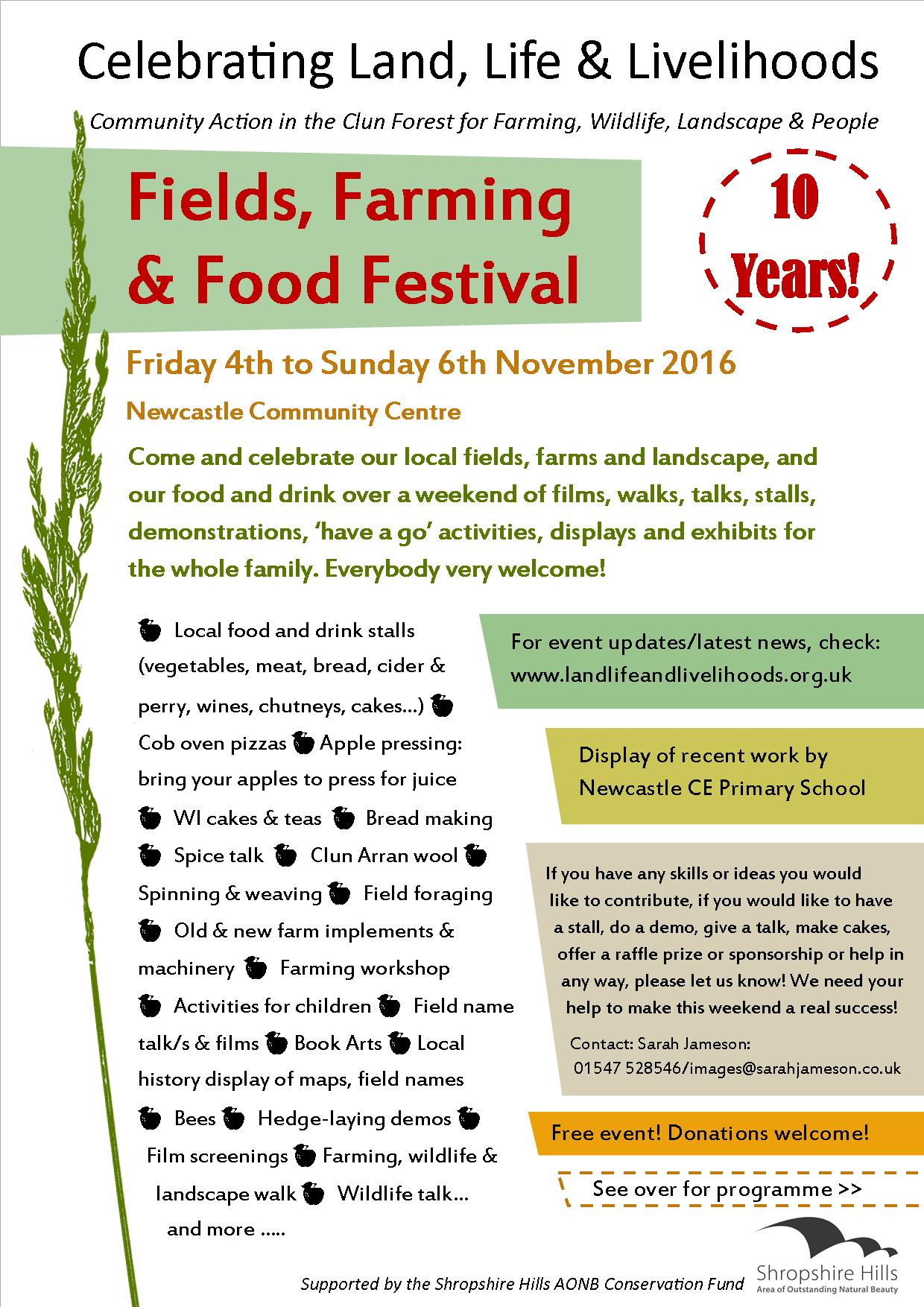 Food, Fields & Farming poster