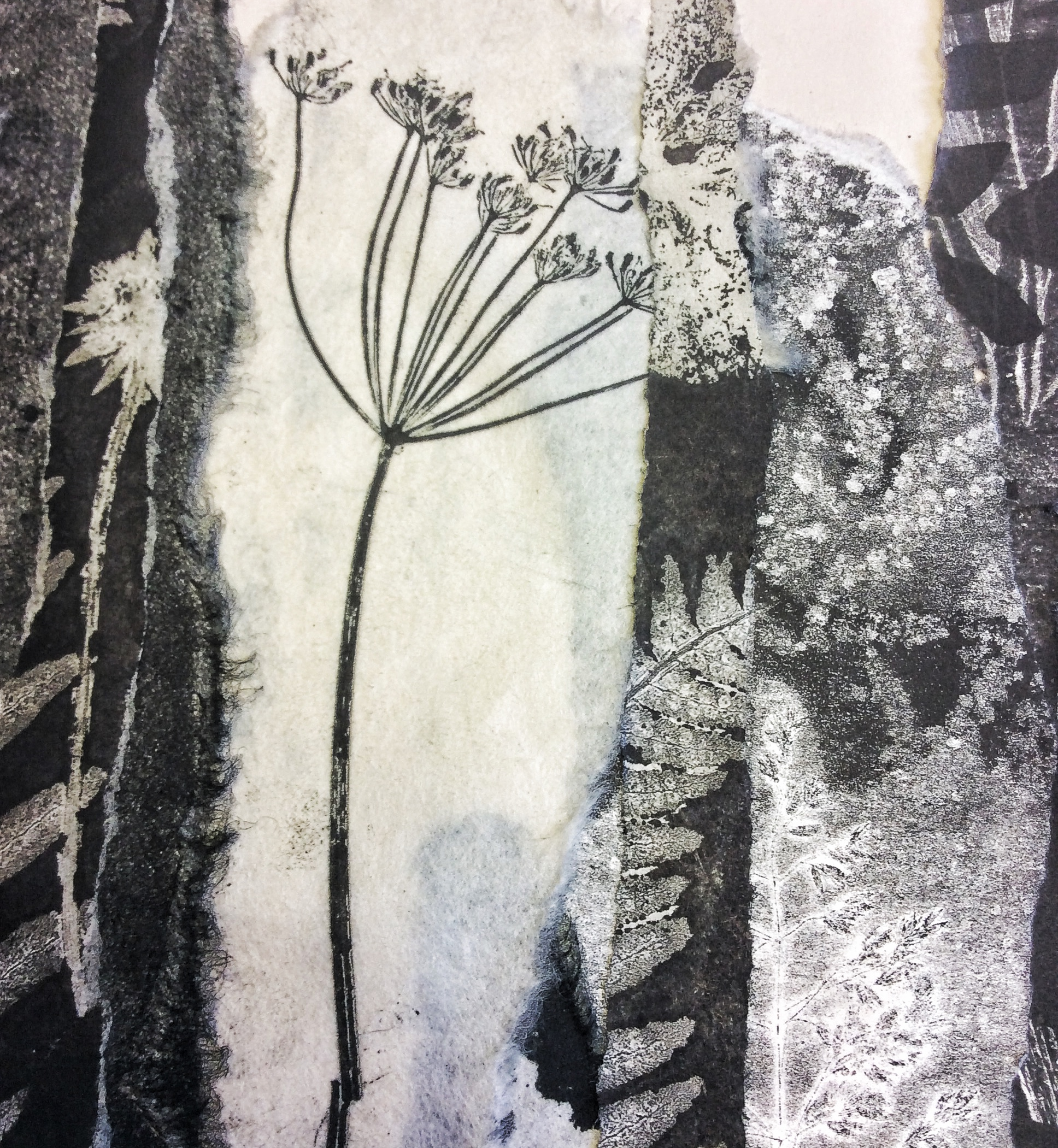 Monoprint Collage - detail