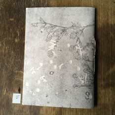 Back of small notebook with hand printed covers (£10)