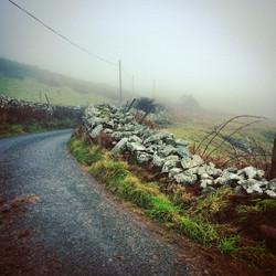 Misty hillside above Pwllheli