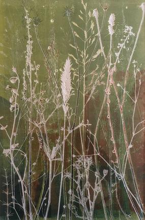 Fresh Meadow, unique nature monoprint