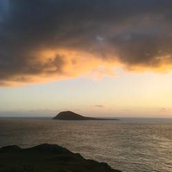Bardsey Island at Sundown