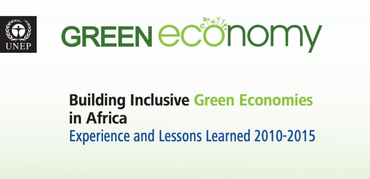 BUILDING INCLUSIVE GREEN ECONOMIES IN AFRICA