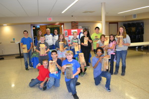 All 10 nest boxes built by Spooner Middle School After School Program kids