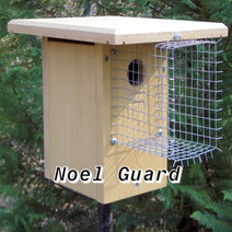 An added element to the pole will really help keep the climbing animals and snakes away.