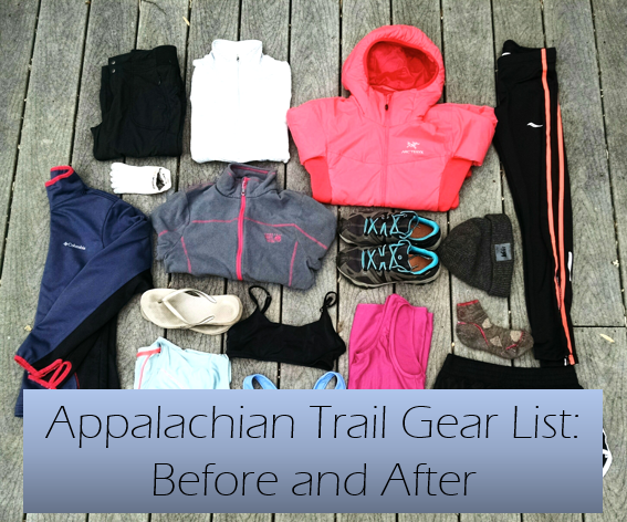 appalachian trail gear list before and after sunrisejournals