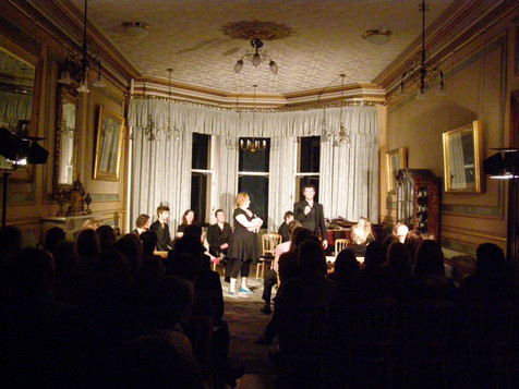 Vivace choir serenading an enraptured audience at Danny House, Hurstpierpoint, as part of a fundraising gala for InterAct.