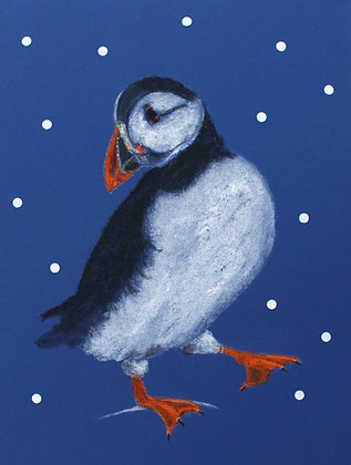 InterAct Puffin Christmas Card Pack of 10