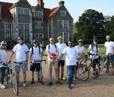 InterAct CEO Nirjay with a cohort of our dedicated actors taking part in a sponsored cycle-ride to raise money for InterAct.
