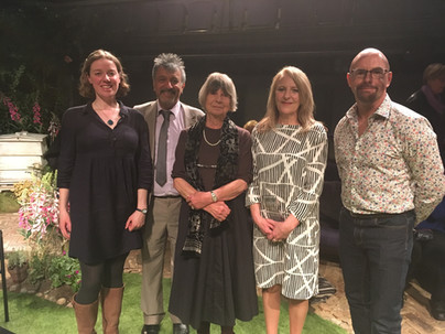 The three winners of our 2018 short story competition with CEO Nirjay and Chief Judge Margaret Drabble. We're delighted to have a host of new stories!