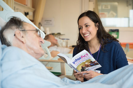 Reading to Stroke Patient