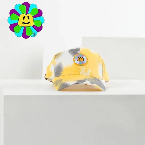 Кепка утка «Tie Dye» светло-желто-белый