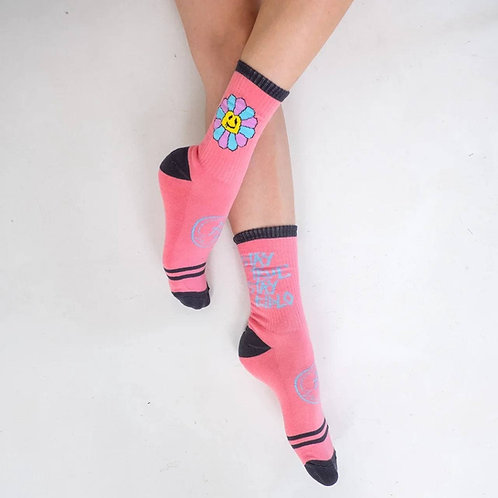Носки BidloBikes «Цветы Улиц» розовый