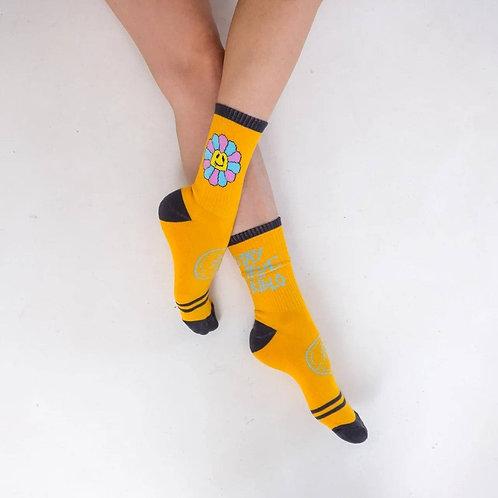 Носки BidloBikes «Цветы Улиц»  желтый харлей