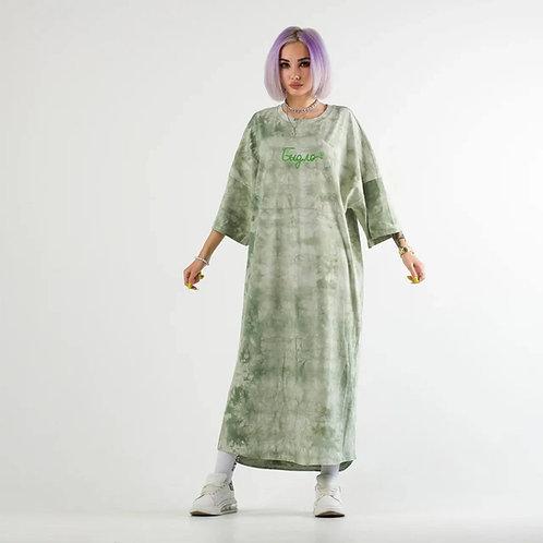 Платье Унисекс «Платье не платье» Тай Дай зелёный