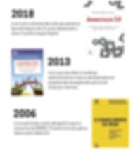 Livro com a síntese de tudo que pensei e aprendi depois de 11 anos debatendo o tema Transformação Digital. Livro que percebe a mudança administrativa e serviu de base para os projetos de inovação disruptiva em diversos clientes. Livro participou como obrigatório para o  concurso do BNDES. Primeiro livro do país a falara sobre Web 2.0.