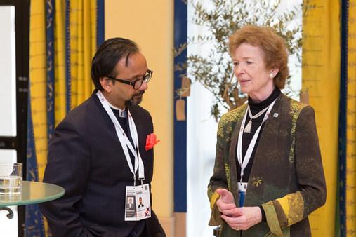 Vijay Krishnarayan & Mary Robinson
