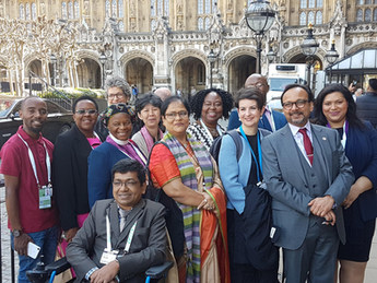 Outside the Houses of Parliament