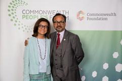 Vijay & Myn Garcia at the Commonwealth People's Forum 2018