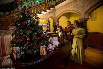 Playing the piano at A Very Victorian Christmas '16