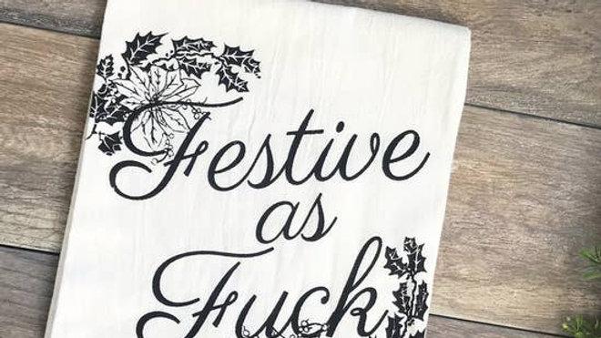 Festive AF Kitchen Towel