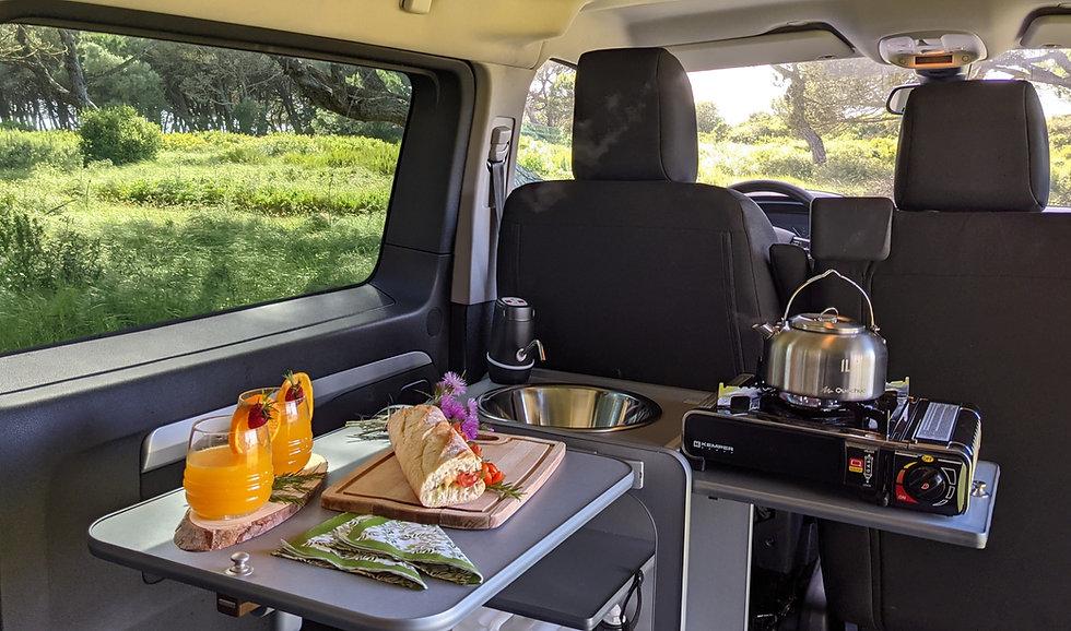 campervan pod in a Citroen spacetourer