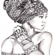 Aissata. Ink and Watercolour