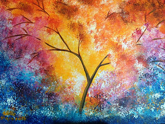 Tree of Life 2. Acrylic