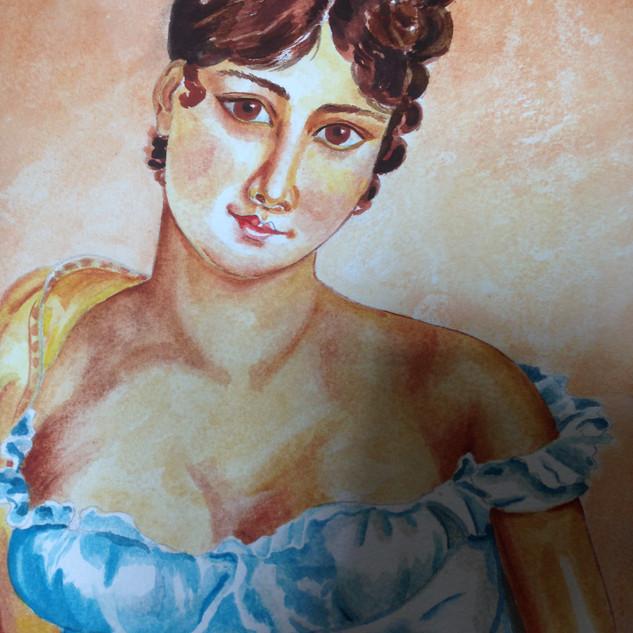 Mademoiselle in blue