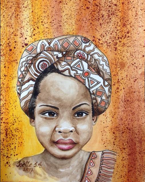 Makayla. Ink and Watercolour