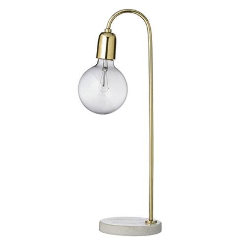 Bloomingville, Lampe Bord - H55, guld marmor