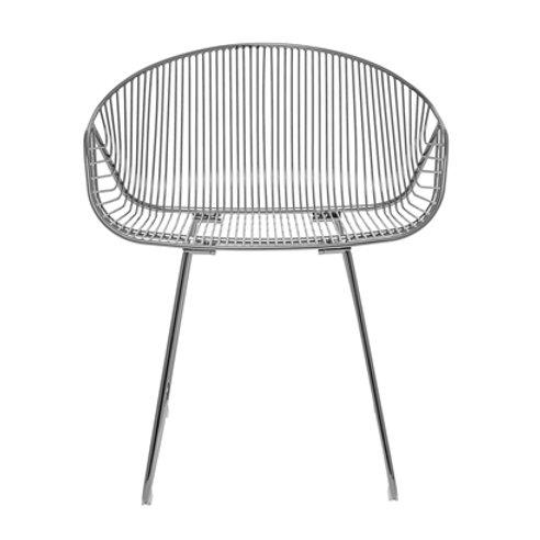 Bloomingville, Lounge stol - River, grå metal