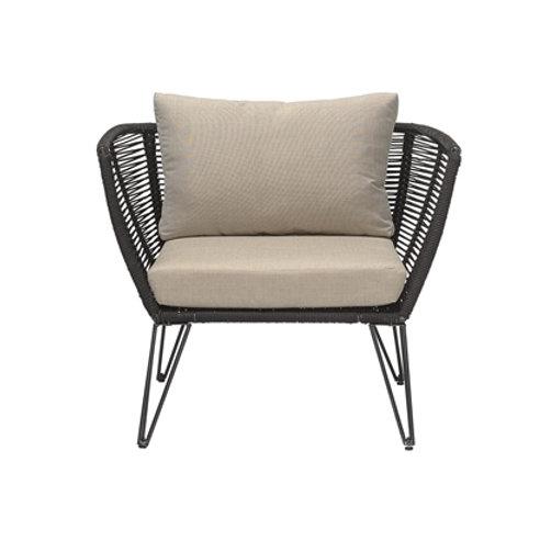 Bloomingville, Lounge stol - Mundo -sort -L87xH72xW74 cm