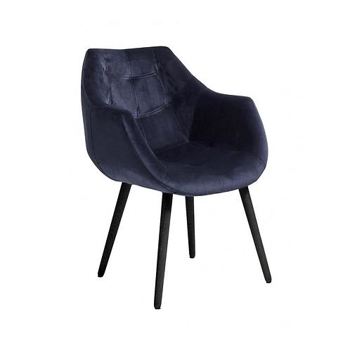 Nordal, Dinner Spisebordsstol m/armlæn blå/sort