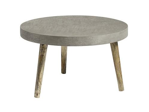Nordal, Sofabord - rundt med beton - Ø75cm grå