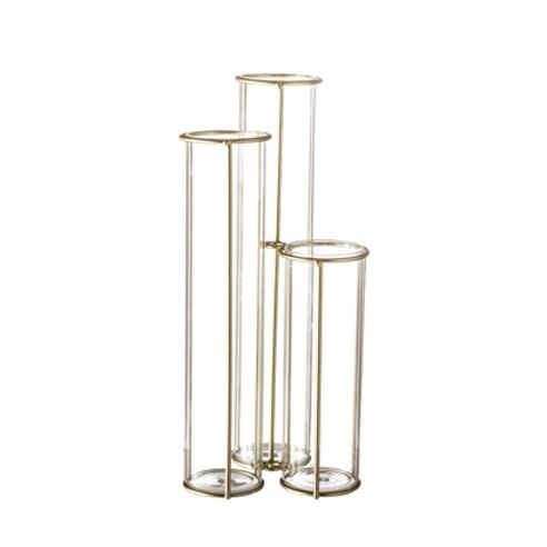 Bloomingville, Vase - Glas -Guld