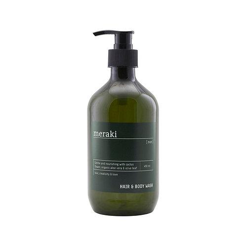 Meraki, Hair & Body wash - Men, 490ml