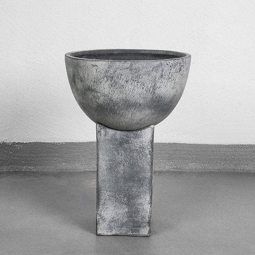 101CPH, Vase - Block, grå - stor