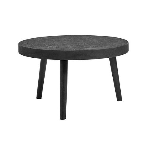 Nordal, Sofabord - rundt med beton - Ø75 - sort