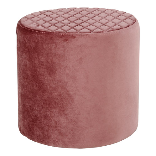 House Nordic, Puf i velour - Ejby - Rosa