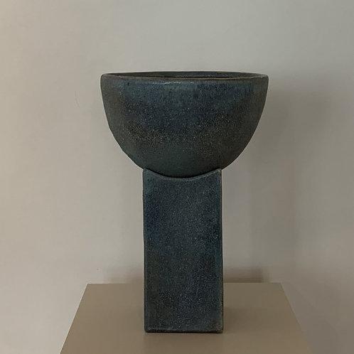 101CPH, Vase - Block, Ocean - stor