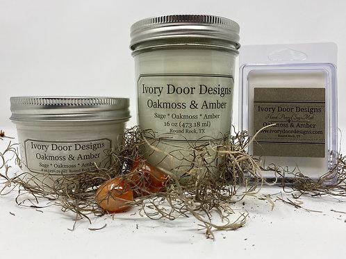 Oak Moss & Amber Soy Candle