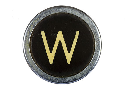 Vintage typewriter W key. Wendy Weitzel is a professional editor and journalist.