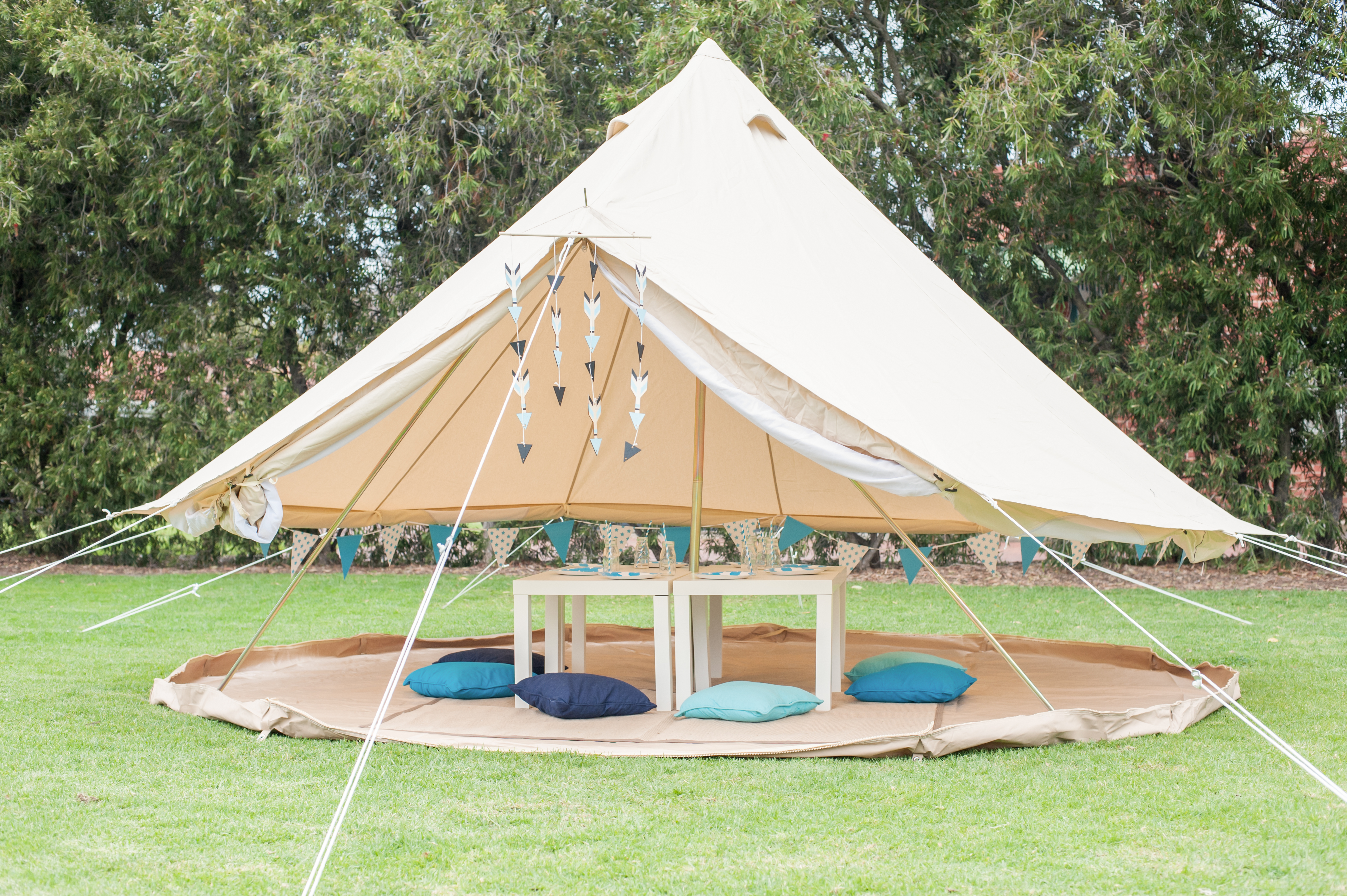 & 5m Bell Tent | Tent Events Adelaide | Glamping | Bell Tent Hire