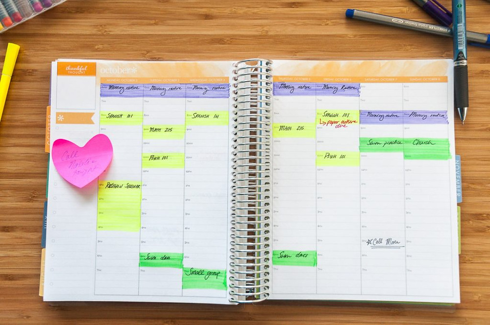 Open and organized planner