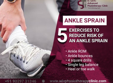 5 EXERCISES TO REDUCE RISK OF AN ANKLE SPRAIN