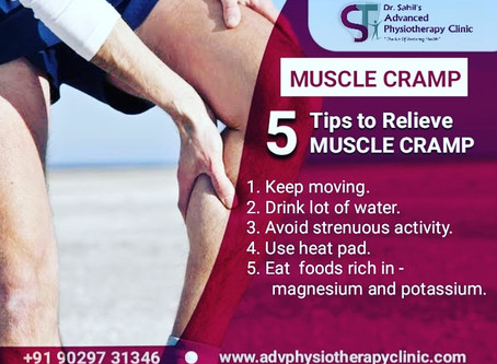 5 Tips to Relieve Muscle Cramp