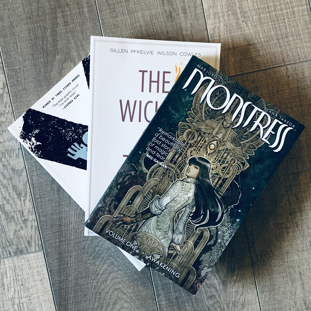 The Last Man (Brian K. Vaughan), The Wicked & The Divine (Gillan, McKelvie, Wilson, Cowles), Monstress (Marjorie Liu & Sana Takeda)