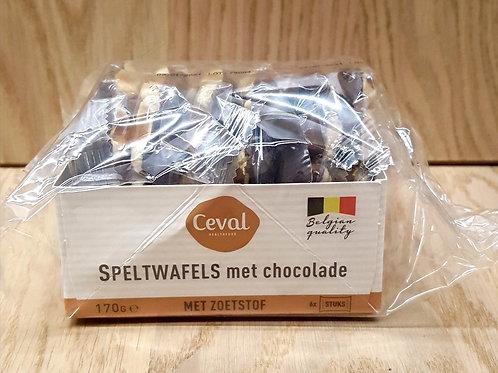 Speltwafels met chocolade