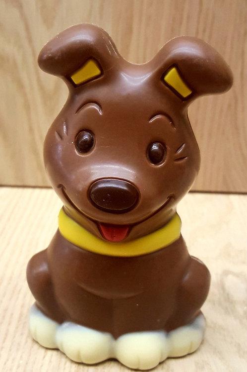 hond melk chocolade gekleurd